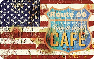 Finest-Folia Bandera de América de Ruta 66 Reservorio Old S