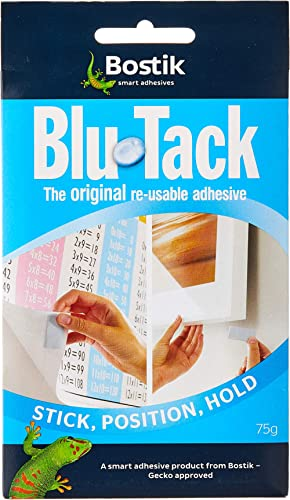 Bostik Blu Tack 75 g, 1 pack, Blue/Gray