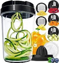 Vegetable Spiralizer Vegetable Slicer - 8-in-1 Zucchini Spaghetti Maker Zoodle Maker Veggie Spiralizer - Zucchini Noodle M...