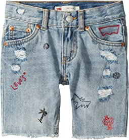 511 Slim Fit Destroyed Denim Cut Off Shorts (Little Kids)