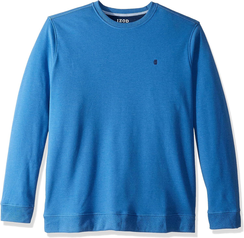 IZOD Men's Big and Tall Advantage Performance Crewneck Fleece Sweatshirt