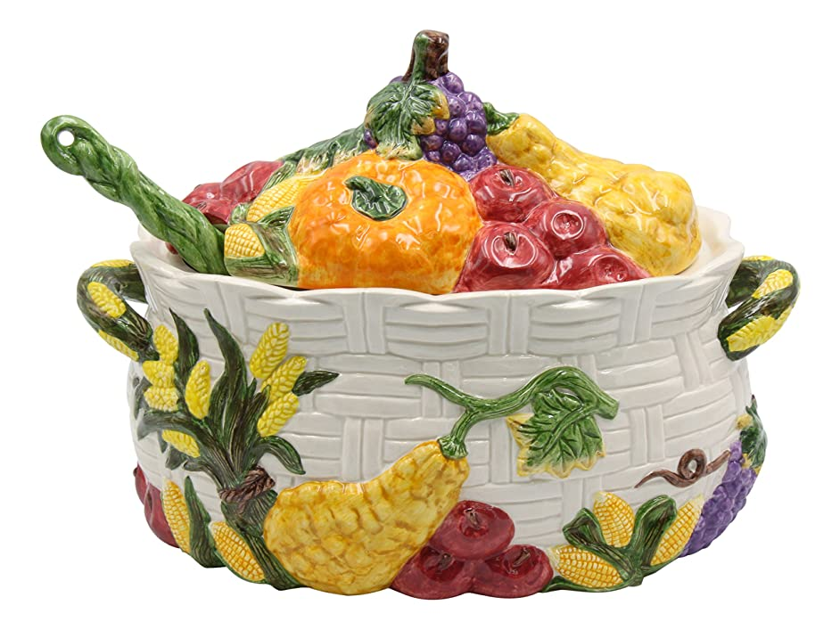 Cosmos Harvest Tureen, Multicolor