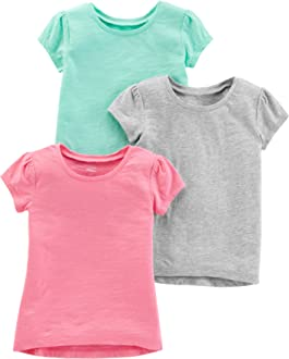 Simple Joys by Carters Toddler Girls 3-Pack Graphic Long-Sleeve Tees