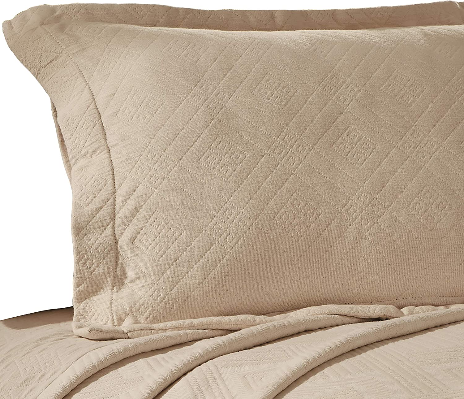SUPERIOR Geometric Weekly update Fret Bedspread with Pillow Qu Sacramento Mall Matching Shams