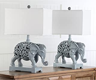 Safavieh Lighting Collection Hathi Sculpture Lt Grey 25.5-inch Table Lamp (Set of 2)