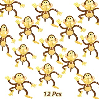 Set of 12 Adorable Inflatable 27 Inches Monkeys Zoo Party Favor Decor Jungle Animals Birthday, by 4E's Novelty