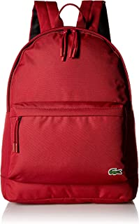 Lacoste Men's Solid Canvas Backpack