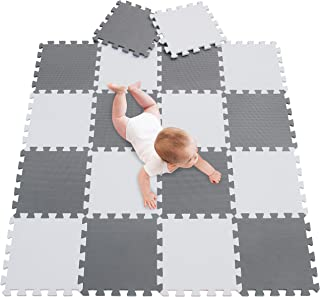 meiqicool 18 Foam Mats Toy Ideal Gift,Colorful Tiles Multi Use,Create & Build A Safe Play Area Interlocking Puzzle eva Non-Toxic Floor for Children Toddler Infant Kids Baby Room & Yard Superyard 0112