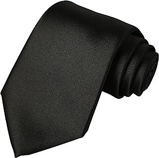 کراوات مردانه کراوات کراوات ساتن جامد پیراهن خالص رنگی + جعبه هدیه