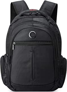 """DELSEY Paris Flier Laptop Backpack, Black, 15.6"""" Sleeve"""