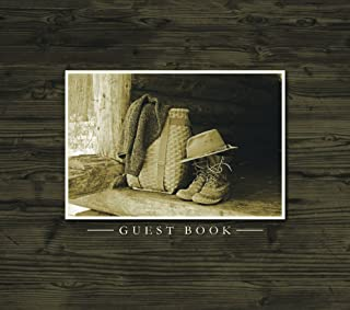 Guest Book (Rustic wood and nature design for cabins, camps, etc.)