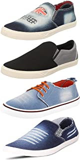 Chevit Men's Combo Pack of 4 Comfort Loafers and Sneakers (Casual Shoes)