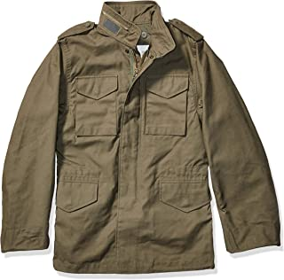 Alpha Industries Men's Tall Size M-65 Thigh Length Zip Field Coat with Pockets