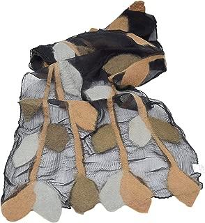 Women's Fashion Long Shawl Lightweight Anytime Merino Wool Felted Silk Chiffon Leaf Pattern Design Scarf with Gift Bag