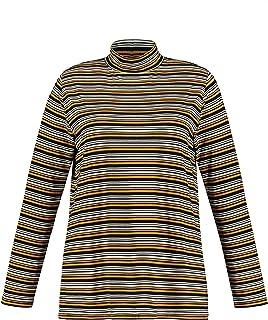 Ulla Popken Shirt-Sweater Suter crdigan para Mujer