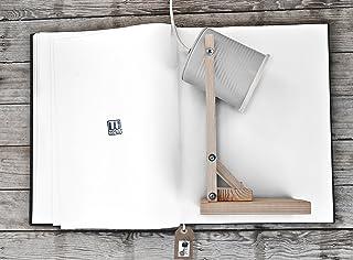 ★ Lampada color grigio chiaro da latta di pomodoro ★ lampada ECO-FRIENDLY da scrivania o comodino, fatta a mano, ricicland...