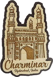 Printtoo Charminar Hyderabad Souvenir Engraved Wooden Fridge Magnet Gift