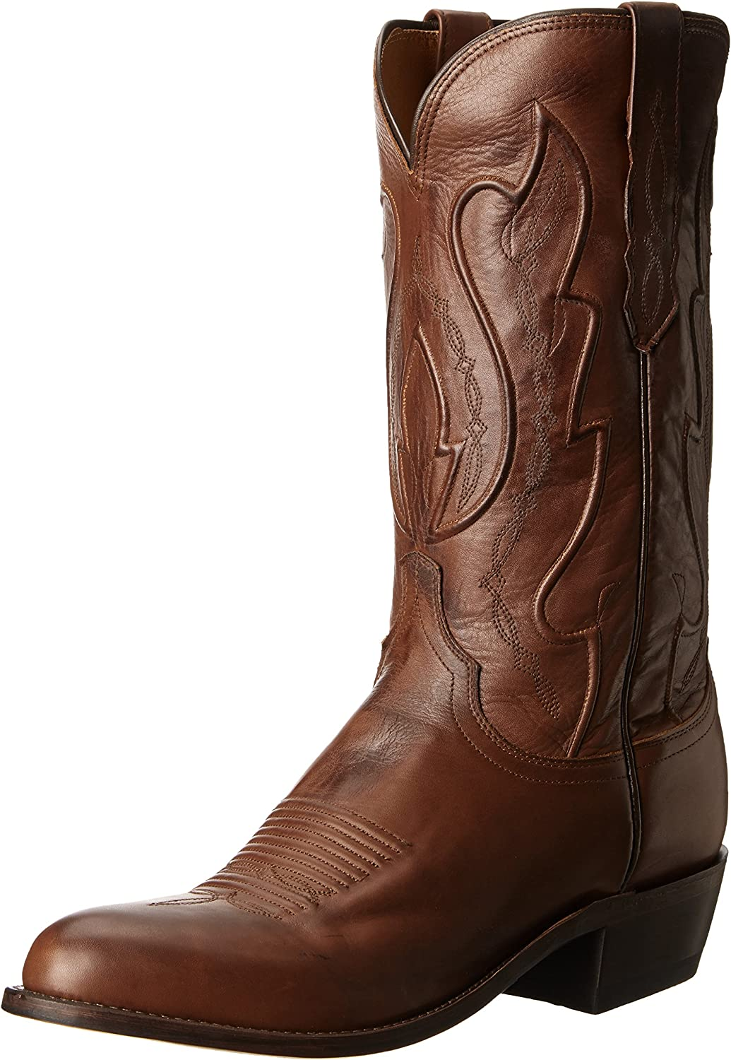 Lucchese Bootmaker  Men's Cole-Tan Ranch Hand Riding Boot