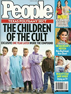 Texas Polygamy Sect * Jade Goody * Melissa Rycroft (The Bachelor/Dancing With the Stars) * Hollywood's Extreme Makeovers (Anne Hathaway) - March 23, 2009 People Weekly Magazine