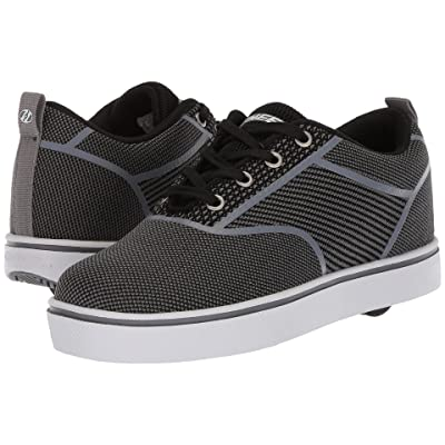 Heelys Launch Knit (Little Kid/Big Kid/Adult) (Black/Charcoal Knit) Boys Shoes