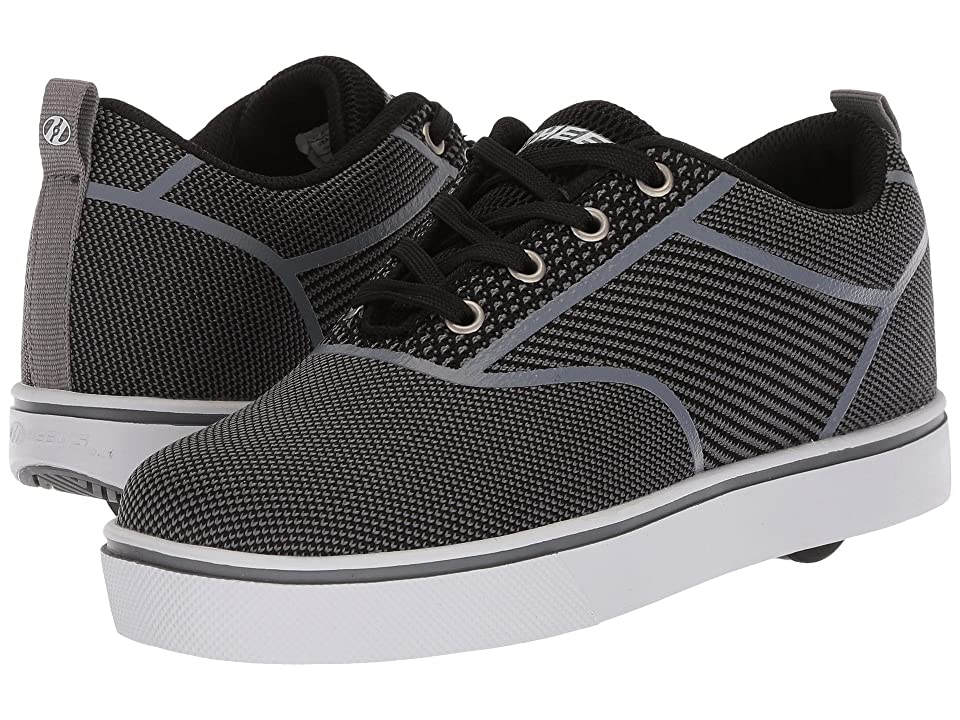 Heelys Launch Knit (Little Kid/Big Kid/Adult) (Black/Charcoal Knit) Boys Shoes