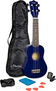 Martin Smith UK-312-BL - Kit de inicio de ukelele, color azul