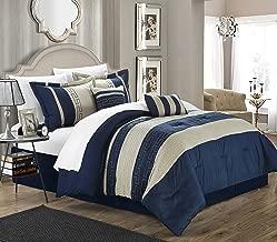 Chic Home Carlton 6-Piece Comforter Set, Queen Size, Blue