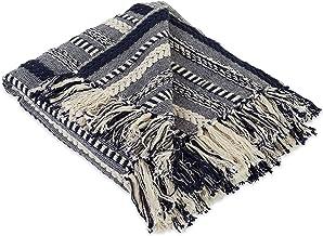 غطاء بطانية من القطن DII فارهاوس مع شراشيب للكرسي والأريكة والنزهة والتخييم والشاطئ والاستخدام اليومي 50 × 60 بوصة CAMZ38831