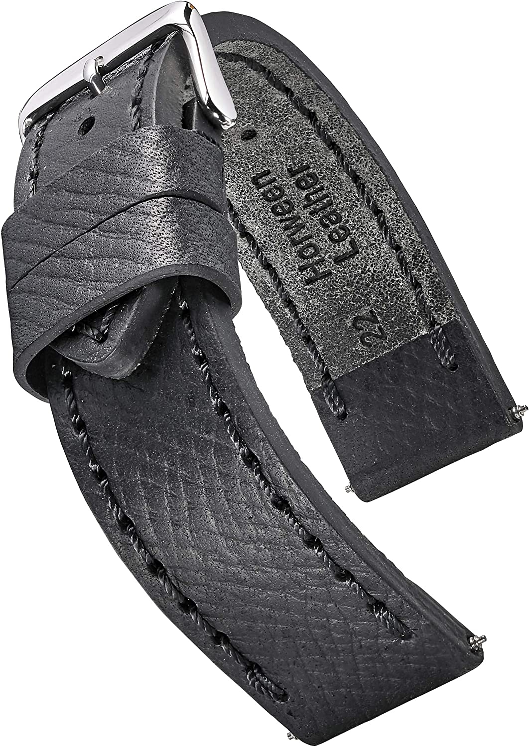 Alpine Fees free Thick Padded Stitched Horween Band Leather Black - Watch Ranking TOP18