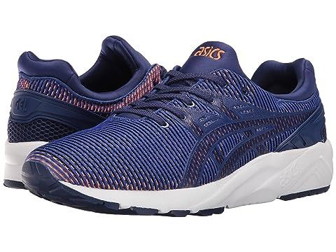 Top Fashion Mens Sneakers - Asics Tiger Gel Kayano Trainer Evo Blue Print/Orange