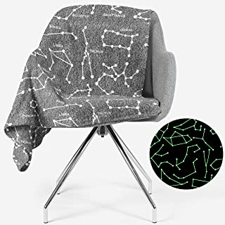 Constellation Blanket Glow in The Dark   All Zodiac Horoscope Signs in The Galaxy   Gift for Solar, Star, Astronomy, Astrology & Astronaut Lovers   Space Theme Decor   Men, Women, Teen, Boys & Girls