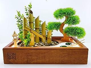 Bonseki® Fontana Zen Giardino 40 x 25 cm in legno, con illuminazione Led. Personalizzabile, scopri le opzioni.