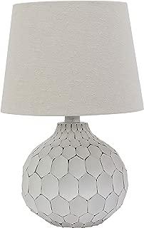 Decor Therapy TL18903 Table Lamp, Desressed White