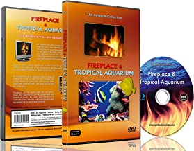 Ambient DVD - Fireplace and Tropical Aquarium - 2 Hours of HD Video Moods -with 25 Minutes Loops