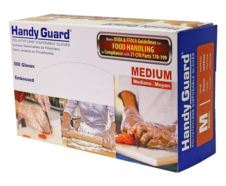 カウンターパート牽引効果的にAdenna Handyガードポリエチレン500手袋 M HGPE505