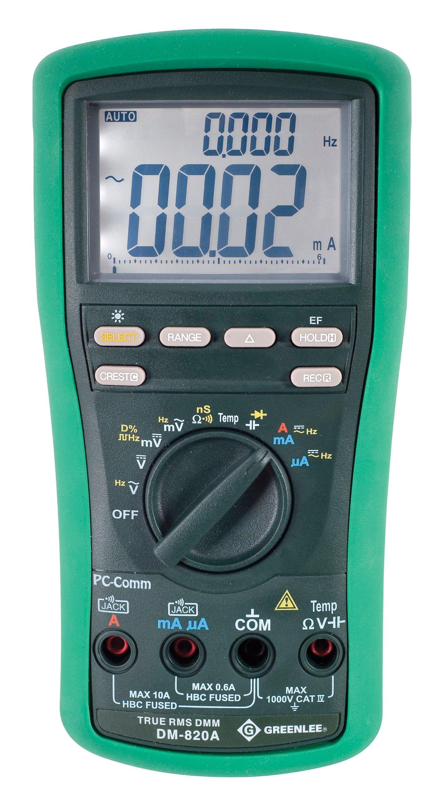 Greenlee DM 820A True Digital Multimeter