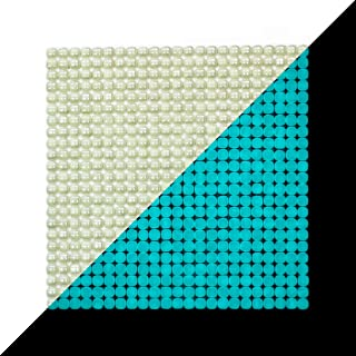 "illumino Lacrimae Lucis IVORY/AQUAMARINE Glow-in-the-dark Glass Tile / 1 sheet 12.2"" x 12.2"""