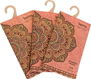 Premium Rose Scented Sachets for Drawers, Closets, and Cars, Lovely Fresh fragrance, Lot of 12 Bags, By Karma Scents