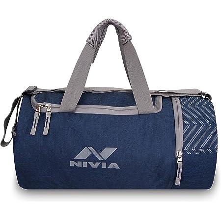 Nivia 5111NB Beast Polyester Gym Bag (Navy Blue)