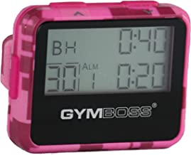 Gymboss Interval Timer and Stopwatch - Pink Camouflage/Pink Gloss