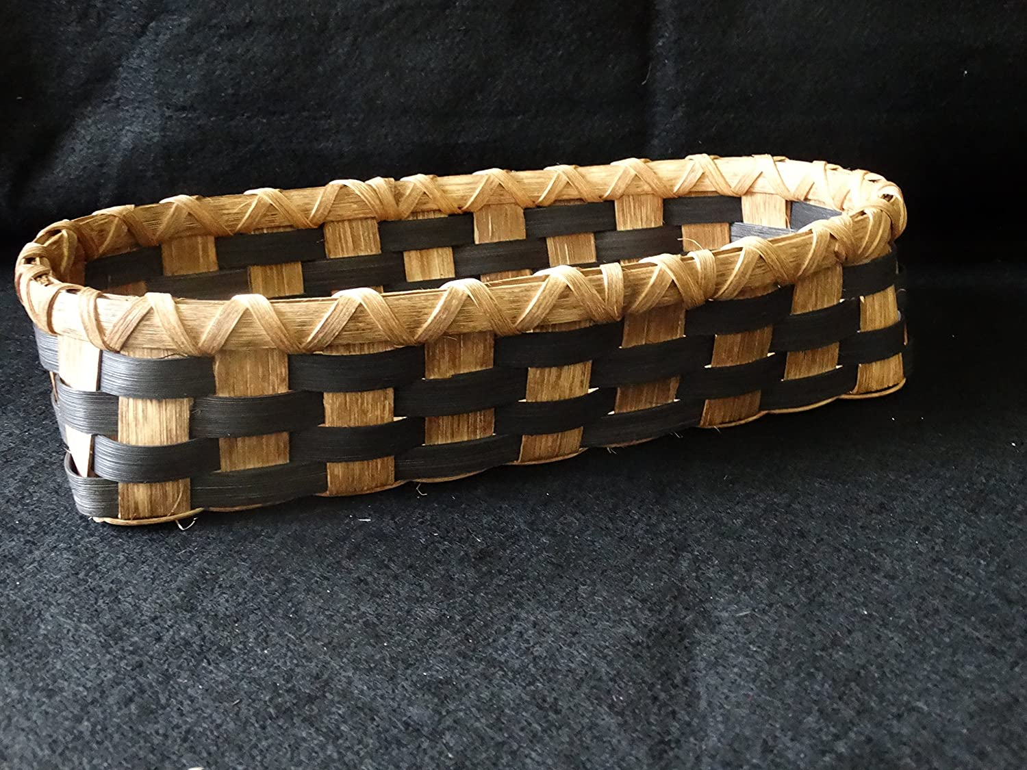 Hand Woven Basket is Black and Walnut. Basket. Japan's largest assortment Popular brand in the world H Natural Storage