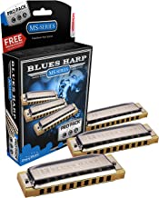 Hohner 3P532BX Blues Harp Harmonica, Pro Pack, Keys of C, G, and A Major