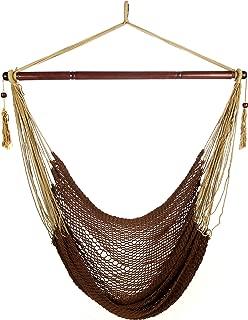 ARAD Hammock Chair, Hammock Swing, Hammock Chair Outdoor, Porch Swing Hammock, Hammock Hanging Chair, Rope Construction Hanging Seat (Brown)