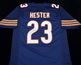 Devin Hester Signed Autographed Blue Football Jersey with JSA COA