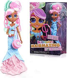 Hairdorables Hairmazing Prom Perfect Fashion Dolls, Dee Dee, Pink and Green Hair, by Just Play