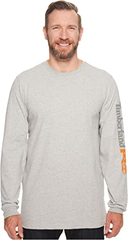 Base Plate Blended Long Sleeve T-Shirt with Logo - Tall
