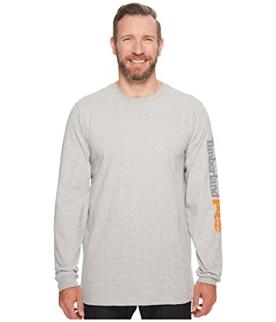 Timberland PRO Base Plate Blended Long Sleeve T-Shirt with Logo Tall (Light Heather Grey) Men