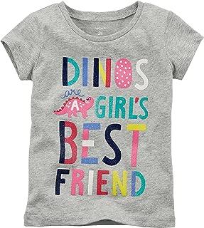 Carter's Baby Girls' 3M-24M Dinos are A Girls Best Friend Short Sleeve Tee