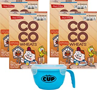 Malt O Meal CoCo Wheats 28 Ounce (Pack of 4) with By The Cup Cereal Bowl