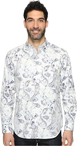 Paulo Paisley Long Sleeve Woven Shirt